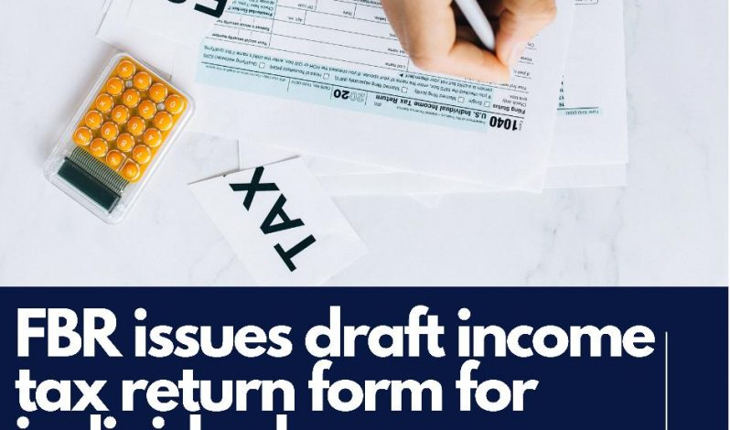 Draft income tax returns form for individuals other than salary